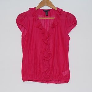 Banana Republic Factory Silk Cotton Ruffle Top S